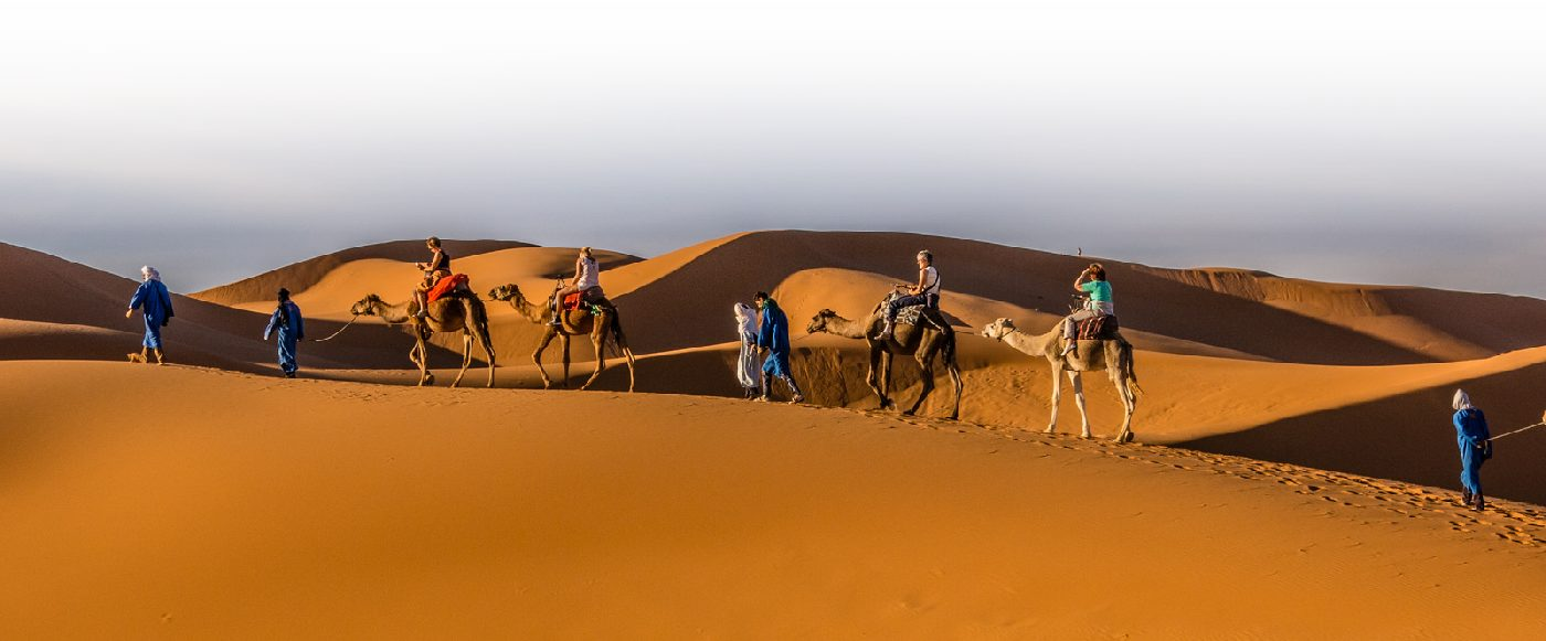 Trekking desert morocco