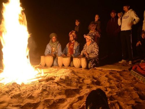 Merzouga at night
